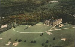 Air View of Poland Spring House Postcard