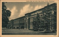 Canton High and Junior High School Postcard