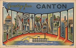 Greetings from Canton, Mississippi Postcard