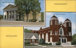 Baptist & Methodist Church Postcard
