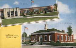 Elementary School, U.S. Post Office Postcard