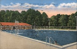 Swimming Pool, Highland Park Postcard