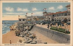 Bathing in the GUlf of Mexico, Crystal Palace, Seawall and Boulevard
