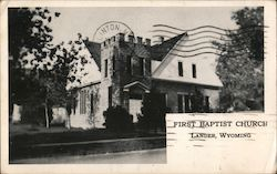First Baptist Church Lander, WY Postcard