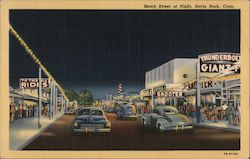 Beach Street at Night Postcard