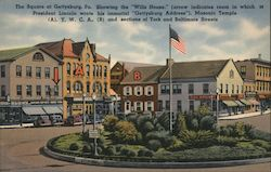 The Square at Gettysburg Postcard