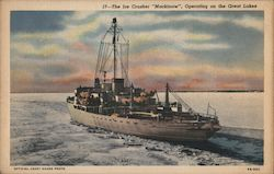 "The Ice Crusher ""Mackinaw"", Operating on the Great Lakes"