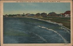 Shorefront from Falmouth Harbor Jetties Postcard