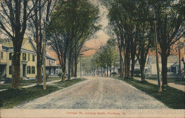 College St., Looking North Poultney Vermont