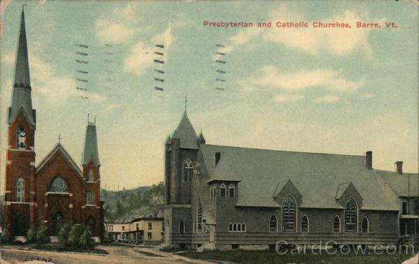 Presbyterian and Catholic Churches Barre Vermont