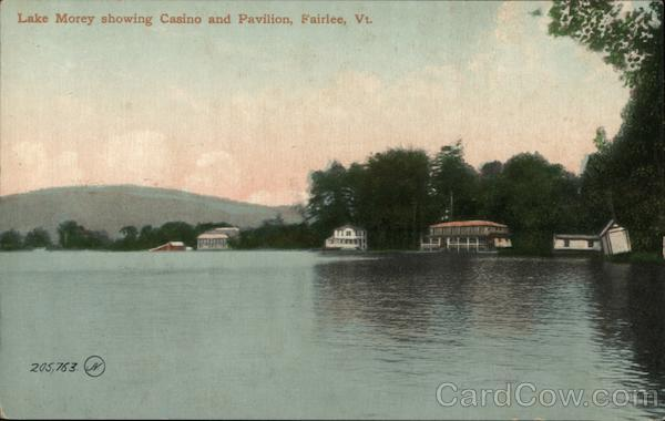 Lake Money Showing Casino and Pavilion Fairlee Vermont