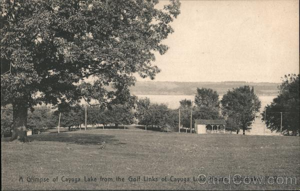 A Glimpse of Cayuga Lake from Golf Links of Cayuga Lake House Sheldrake New York