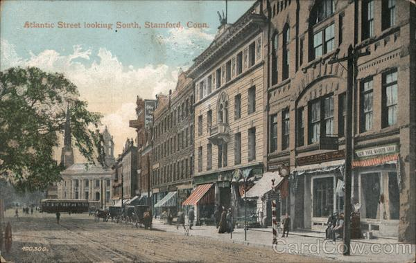 Atlantic Street Looking South Stamford Connecticut