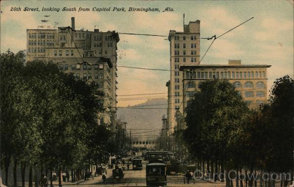 20th Street, Looking South from Capital Park Birmingham Alabama