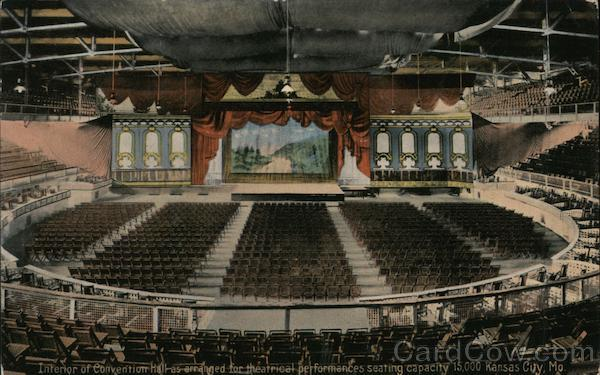 Interior of Convention Hall as Arranged for Theatrical Performances Kansas City Missouri