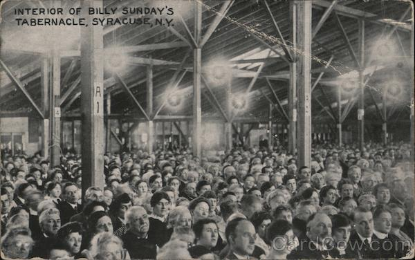 Interior of Billy Sunday's Tabernacle Syracuse New York