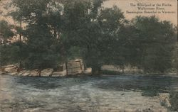 The Whirlpool at the Rocks, Walloomsac River Postcard