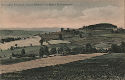 Bennington Battlefield, Looking Westerly from Baum's Entrenchments Postcard