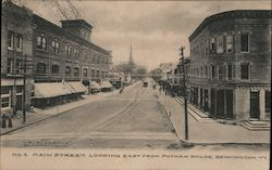 No. 4 Main Street, Looking East from Putnam House Postcard