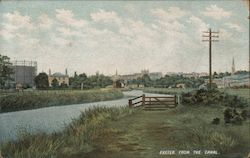 Exeter from the canal. Postcard