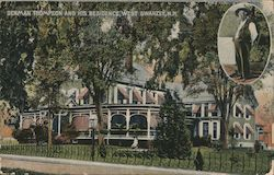 Denman Thompson and his Residence Postcard