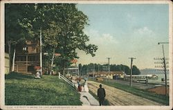 A Street in Weirs, on Lake Winnipesaukee Postcard