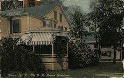 The E. R. Brown Residence Postcard