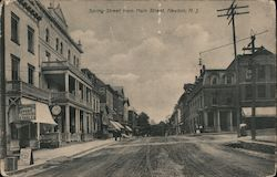 Spring Street from Main Street Postcard