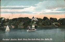 Resident Section, North Shore, Eau Grille, Eau Grille River Postcard