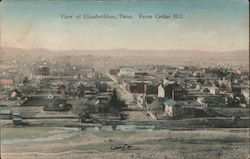 View of Elizabethton, Tenn. From Cedar Hill Postcard