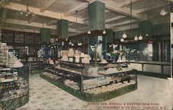 Interior View, Woodall & Sheppard Drug Store, Handsomest in the South