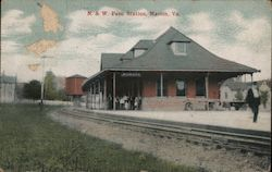 N. & W. Pass. Station Postcard