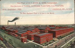 New Plant of B.F. Avery & Sons, Inc. Postcard