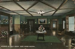 Interior of Golf House, Rock Island Arsenal