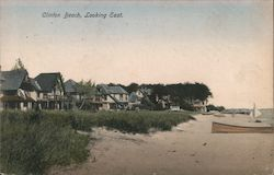 Clinton Beach, Looking East Postcard