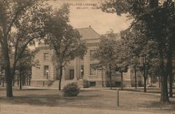 College Library Postcard