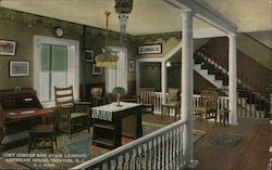 Cozy Corner and Stair Landing, American House Postcard