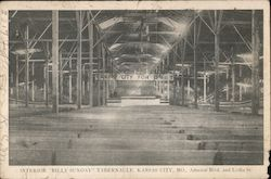 "Interior ""Billy Sunday"" Tablernacle Postcard"