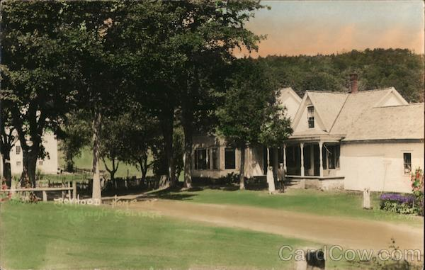 President Coolidge Boy Hood Home, Hand Tinted Plymouth Vermont