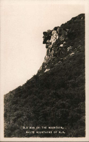 Old Man of the Mountain Franconia New Hampshire