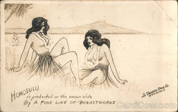 Hawaiian Girls A fine line of breastworks Honolulu