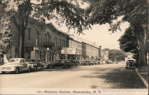 Business Section, Colonial Theater Skaneateles New York