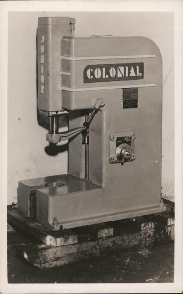 Colonial Hydraulic Press, Fairfield Equipment Co. Connecticut