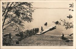 At the Swimming Beach, Camp Kiniya on Lake Champlain