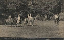 Bennington Historical Pageant, Horses Postcard