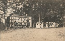 Historical Reenactment Outdoors Postcard