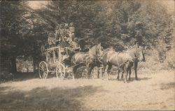 Historical Reenactment Using Stagecoach Postcard