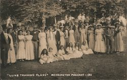 """Lune Training Class"", Bennington Pageant - 1911 Postcard"