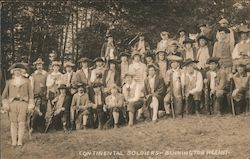 Continental Soldiers - Bennington Pageant Postcard