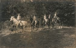 Actors on Horses, Bennington Historical Pageant Postcard